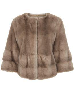 Croped Mink-fur Jacket