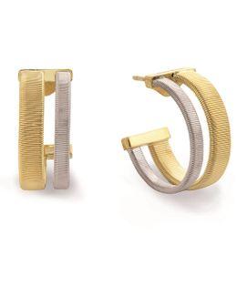 Masai Yellow & White Gold Hoop Earrings