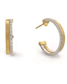 Masai Multi Gold Diamond Hoop Earrings
