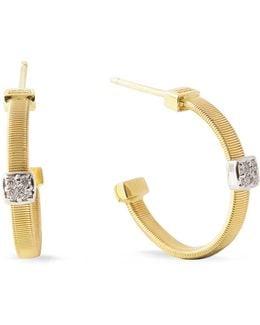 Masai Size 1 Yellow Gold Diamond Earrings