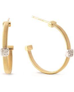 Masai Size 2 Yellow Gold Diamond Earrings