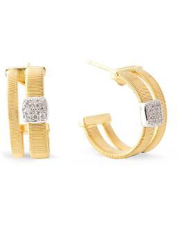 Masai Gold Diamond Hoop Earrings