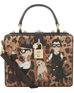Family Top Handle Leopard Dauphine Tote
