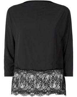 Lace Edge Pyjama Top