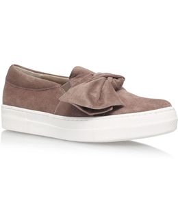 Little Suede Knot Slip-ons