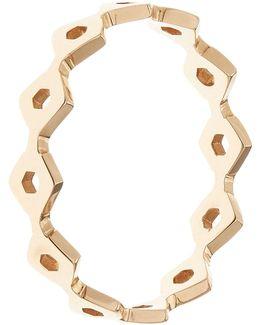 Rose Gold Honeycomb Ring