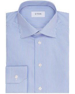 Slim Fit Pinstriped Shirt