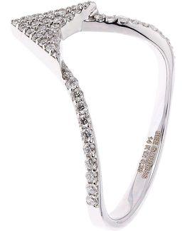 Diamond Eros Arrow Head Ring