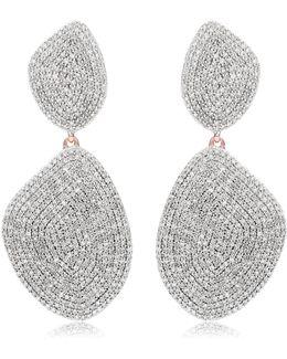 Nura Double Teardrop Cocktail Earrings