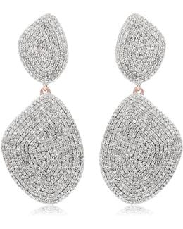 Nura Double Teardrop Cocktail Earrings