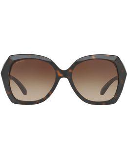 Embellished Oversized Square Sunglasses