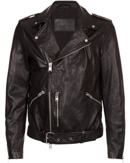 Kahawa Leather Biker Jacket