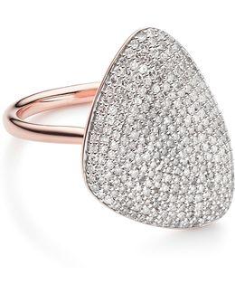 Nura Teardrop Diamond Ring