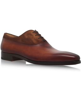 Leather And Suede Oxford Shoes