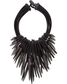 Multi-strand Carved Necklace