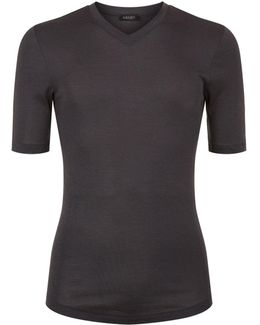 Thermal V-neck T-shirt