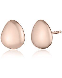Nura Small Pebble Stud Earrings