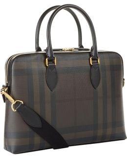 The Barrow Checked Saffiano Briefcase