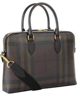 The Barrow Checked Saffiano Briefcase