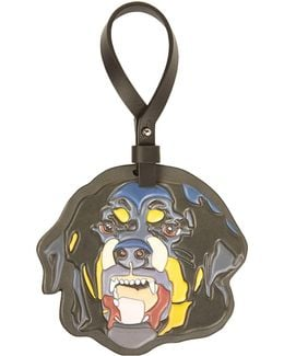 Rottweiler Leather Bag Charm
