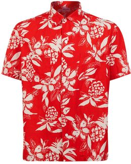 Pineapple Print Bowling Shirt