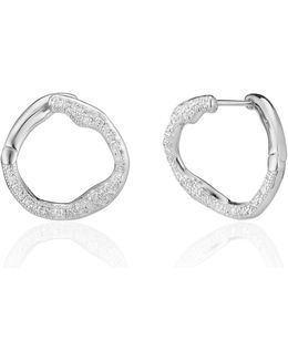 Riva Diamond Circle Hoop Earrings