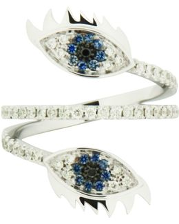 Marry Me Double Eye White Gold Ring