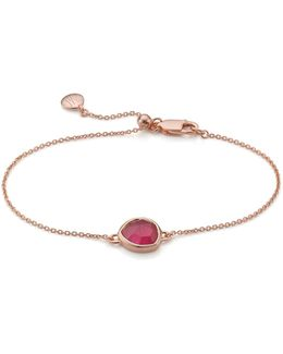 Siren Pink Quartz Fine Chain Bracelet