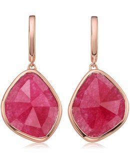 Siren Large Nugget Rose Quartz Earrings