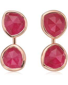 Siren Pink Quartz Jacket Earrings