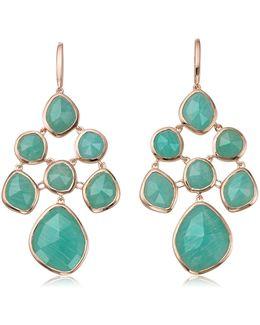 Siren Amazonite Chandelier Earrings