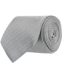 Diagonal Herringbone Tie