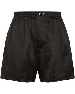 Interlocking Flower Silk Boxer Shorts