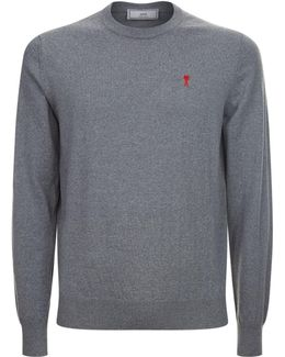 Embroidered Heart Knit Jumper
