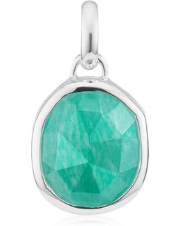 Medium Siren Amazonite Bezel Pendant