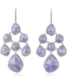 Siren Blue Lace Agate Chandelier Earrings