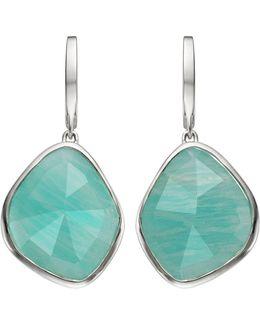 Siren Large Nugget Amazonite Earrings