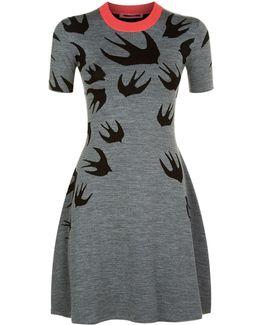 Swallow Knitted Skater Dress