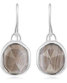 Siren Grey Agate Wire Earrings