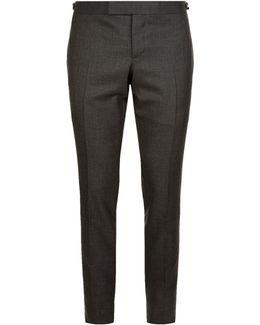 Skinny Wool Trousers