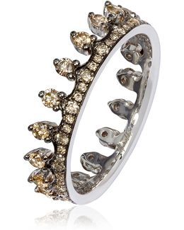 Brown Diamond Crown Ring