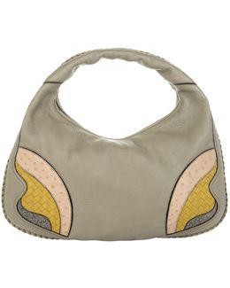 Intrecciato Patch Hobo Bag