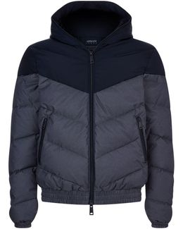 Hooded Down Bomber Jacket