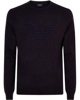 Tonal Eagle Sweater