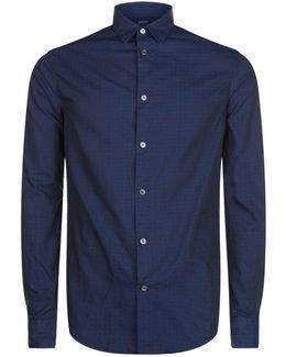 Dot Print Collar Shirt