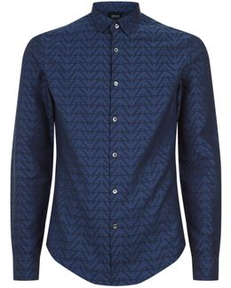 Tonal Eagle Print Shirt