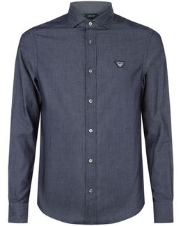 Chambray Logo Shirt