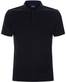 Zip Placket Polo Shirt