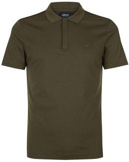 Zip Placket Polo Shirt