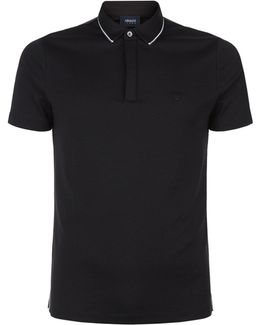 Tipped Collar Polo Top